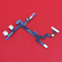 50piece High performance Power ON/OFF Volume Mute Button Flex Cable Replacement Part For iPhone 5 5G(China)