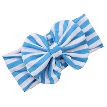 girls hair accessories elastic hair bands Striped bow girls hair decorations headband  girl acessorio para cabelo