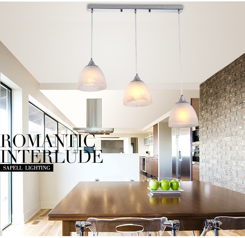 Modern simple LED lamps Personalized fashion restaurant lamp creative three and single head dining room hall lamp Pendant Lights<br>