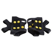 2pcs 10-Stud Ice Snow Shoe Boot Spikes Grips Crampons Cleats Anti Slip Hiking