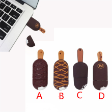 Pendrive 128GB ice cream usb flash drive 8GB 16GB 32GB usb flash memory stick pen drive chocolate 64GB key small Popsicle