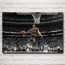 Basketball Star Lebron James Art Silk Fabric Poster Print Sports Pictures Wall Decor 12x18 16X24 20x30 24x36 Inch Free Shipping
