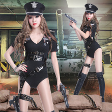 2016 Army uniforms temptation officer police bar DS nightclub Dance Costume(China)