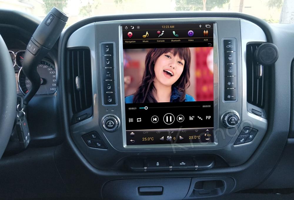 Krando GMC Chevrolet Silverado tesla screen android car radio gps navigation multimedia system (5)
