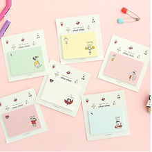 2pcs/lot NEW creative lovely children design notepad / message post / sticky note /SQC323(China)
