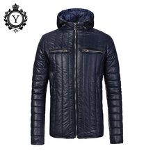 COUTUDI Winter Jacket Men 2016 Chinese Stylish Mens Down Jackets and Coats For Male Padded High Quality Windbreaker Blue Coats