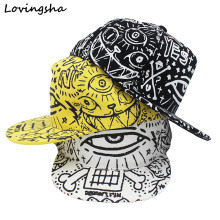 LOVINGSHA Boy Baseball Caps For 3-8 Years Old Children Big Eye Design Snapback Caps High Qaulity Adjustable Cap  For Girl  CC043