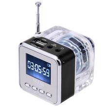 TOPROAD TT-029 Stereo Speaker Mini LED Display Speakers Music Player with Crystal Fm Radio Alarm Clock TF Slot USB Altavoz(China)