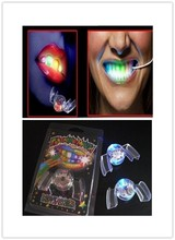 288pcs/lot LED Light scary mask up Flashing Mouth For Halloween Party Rave Event halloween mask