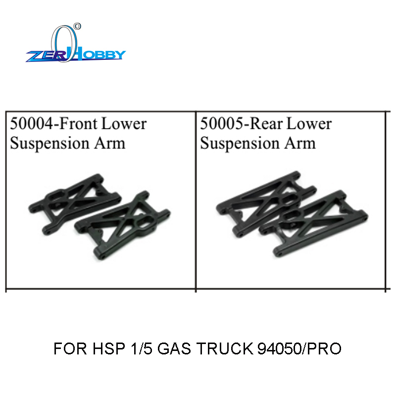 RC CAR SPARE PARTS ACCESSORIES RC CAR FRONT REAR LOWER SUSPENSION ARMS FOR HSP 1/5 GAS RC TRUCK 94050 (PART NO. 50004, 50005)<br><br>Aliexpress