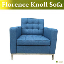 U-BEST high quality Florence Knoll Lounge Chair in fabric,modern design armchair,knoll relax chair living room furniture(China)
