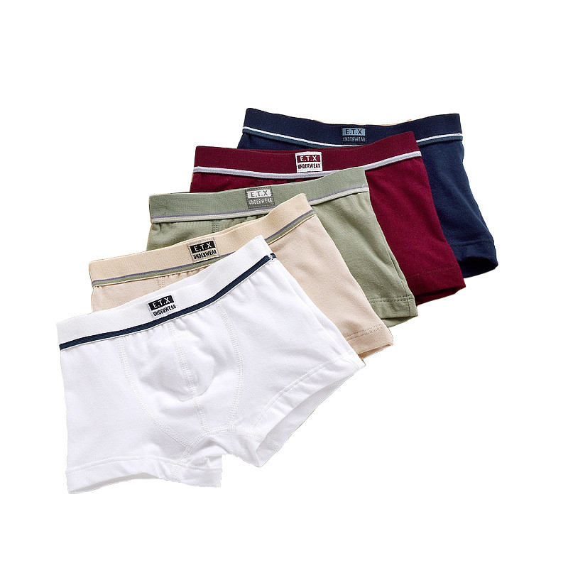 5 piece/New pure color boys Kids Underwear Boxers mixing many children's underwear modal high soft modal Boys Briefs