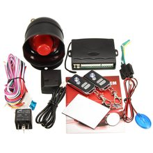 Universal 1-Way Car Vehicle Alarm Protection Security System Keyless Entry Siren +2 Remote Control Burglar(China)