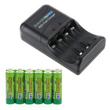 13 PCS a set ! 12 pcs Nizn 1.6V 2500mWh AA Battery & 1 PCS Charger ZR-PGX1HRAA-4B(China)