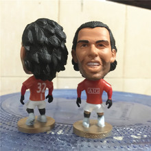 Soccerwe 2009 Season 2.55 Inches Height Football Dolls United 32 Carlos Tevez Figure for Fans Collections Red Kit Gift