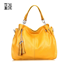 2017 Ladies Tassel Bag Split Leather Cowhide Women Candy Color Shoulder Lux Tote Crossbody Messenger OL Work Business Bags 0217