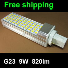 pl g23 led 9w pl lamp bulb with SMD 44led 5050SMD 120degeree 820lm real test warranty 3 years CE RoHS(China)