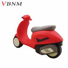 VBNM cute red motorcycle pen drive 4GB 8GB 16GB 32GB mini lady motorcycle usb flash drive motorbike memory stick gift(China)