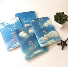 Blue Sky White Cloud 56K Notebook Diary Book Exercise Composition Notepad Escolar Papelaria Gift Stationery(China)
