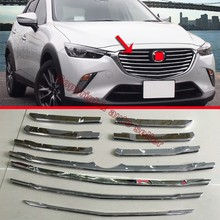 ABS Chrome Front Grille Around Trim For Mazda CX-3 2015 2016 2017