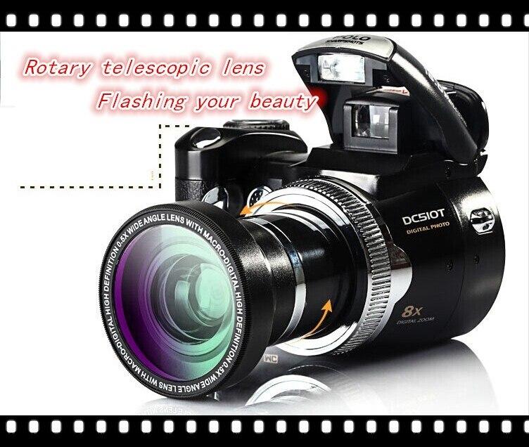 Freeshipping DSLR Digital Camera 16MP Flashlight Cheap Cameras Digital 2.4 Inch TFT LCD Screen Digital Single Lens Reflex Camera<br><br>Aliexpress