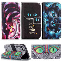 Misolocat Wallet Cases for Samsung Galaxy S3 S4 S5 Cheshire Cat Case S6 S7 Edge Alice in Wonderland Note 4 5 Stand Cover(China)