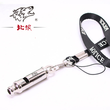 New Arrival Silver Survival Whistle lanyard for Hiking Camping Outdoor Sports Tools laser name and logo football referee whistle