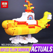 Lepin 21012 The Beatles John Winston Lennon Paul McCartney Harrison Ringo Starr Yellow Submarine Building Blocks Models Toys(China)