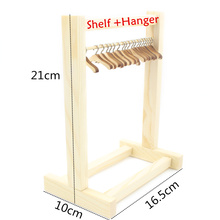 BJD Blyth doll Furniture Accessories Wooden Shelf and clothes Hanger(China)