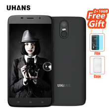 UHANS A6 Mobile Phone 5.5 inch Android 7.0 2GB RAM 16GB ROM MTK6580 Quad Core 8MP Cam 4150mAh Fingerprint ID 3G WCDMA Smartphone - Cectdigi Store store