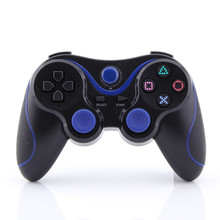 Blue plus Black Wireless Bluetooth Sixaxis Controllerss for Sony PS3 Console Game