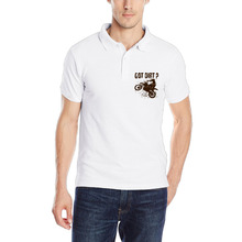 DUTRODU Got Dirt Motorcross print Men's Solid Pique Polos camisa polo men camiseta masculina(China)