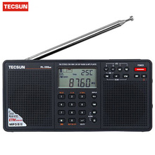 Tecsun PL-398MP mp3 radio Full Band Digital Tuning Stereo Receiver Stand  Black has MP3 Playback Function