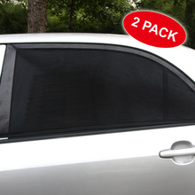 Car Sun Shades 2Pcs Adjustable solar proctection Car Window sunshade UV Protection Shield Mesh Cover Visor free shipping L XL(China)