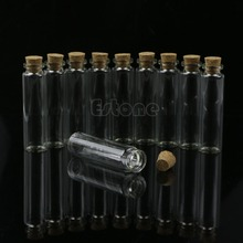 Hot Sale 30pcs 20mL Mini Small Tiny Clear Cork Stopper Glass Bottles Vials Wholesale