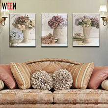 Christmas Pinturas Al Oleo 3 Panels Cuadros Decoracion Pictures Canvas Printing Wall Flower Home Decorative Canvas Arts Gift