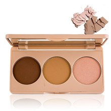 1Pc 3 Colors Professional Makeup Imagic Highlighter Powder Brighten Face Foundation Palette Small V Trimming Cosmetics(China)