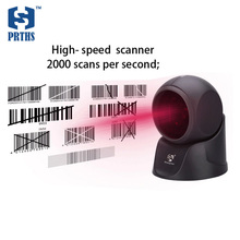 Cheap USB Omnidirectional label scanner with cross 24 lines scanning desktop 1D barcode reader for POS system in supermarket(China)