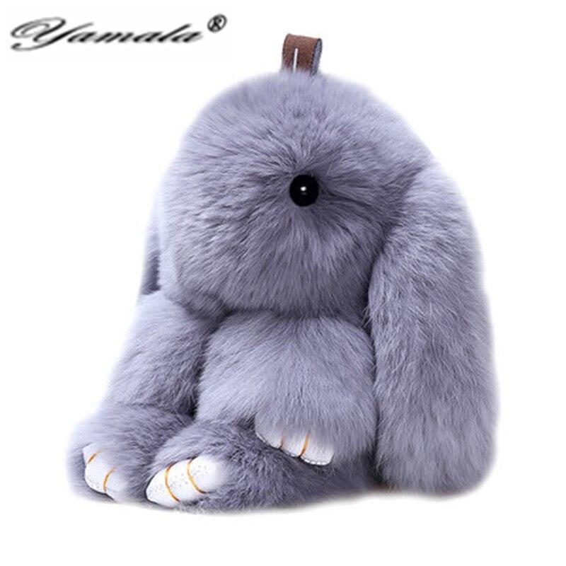 Yamala Key chain Cell phone chain Bag pendant Rabbit Furs Cute Mini Rabbit Toy Women Girl Bunny Rabbit Ring Pendant plush toy<br><br>Aliexpress