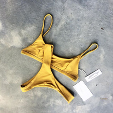 swimwear women bikini 2017 yellow swimsuit maillot de bain femme sexy bathing suit women bikinis