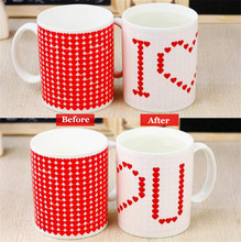'I Love You' Ceremic Mug Heat Sensitive Color Changing Mug Great Gift Amazing Love Drinking Coffee Mugs Lovers Gifts