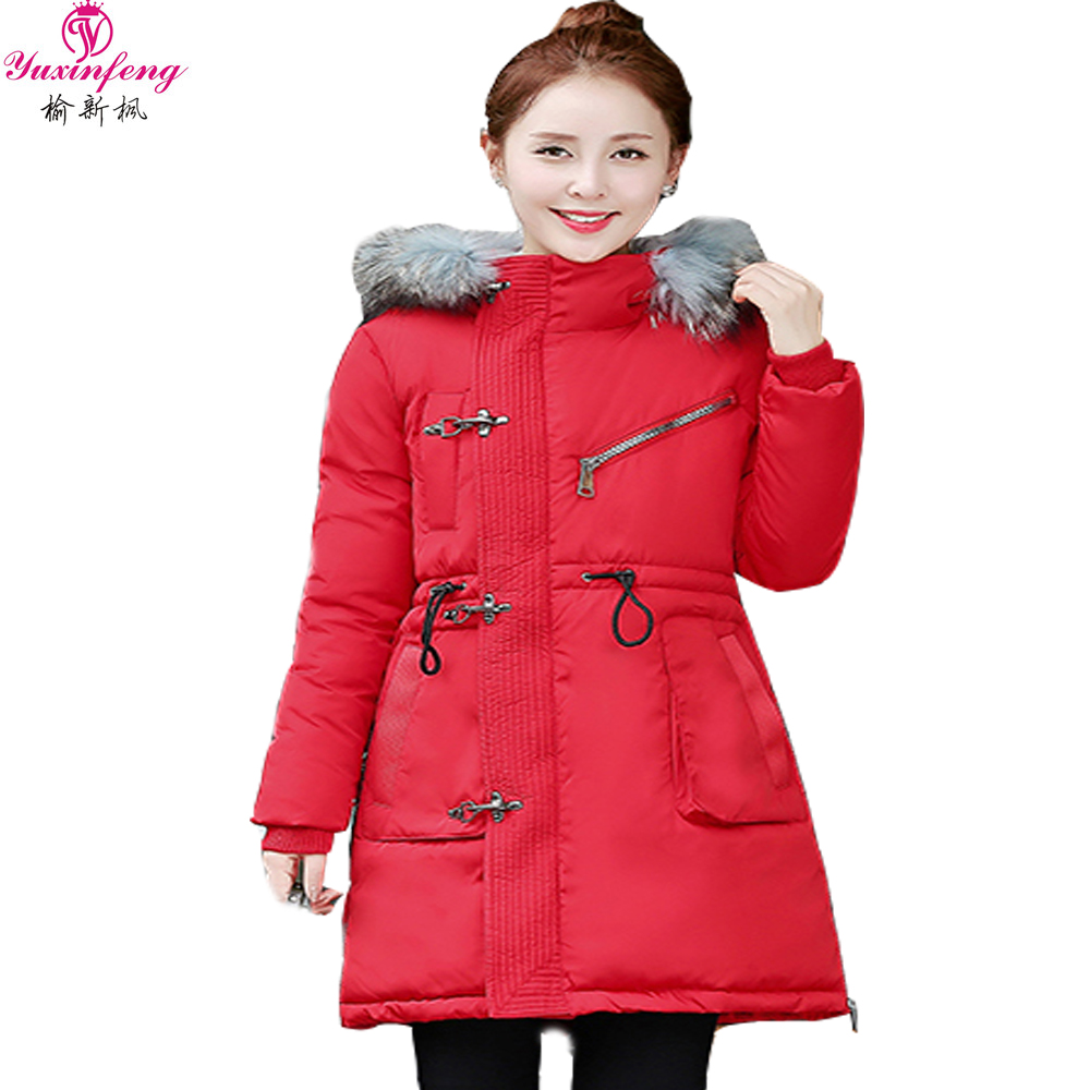 2017 Autumn Women Winter Jackets Plus Size Women Cotton Padded Thick Parkas and Coats Raccoon Fur Hooded Long Down ParkasОдежда и ак�е��уары<br><br><br>Aliexpress