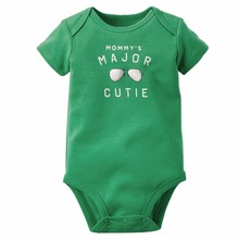 Baby Boys Bodysuits 100% Cotton Green Letter Glasses Print Newborn Infant Bebe Jumpsuits Spring Summer Body Suits Clothing Set