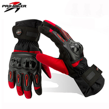 Winter Gloves Men Luva Moto Motorcycle Gloves Racing Waterproof Windproof Winter Warm Leather Cycling Bicycle Cold Guantes Luvas(China)