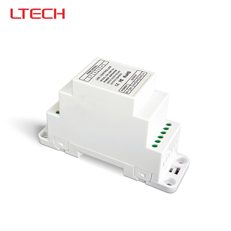 DIN-AMP-5A Led CV Power Repeater(amplifier),(DIN rail/Screw dual-use);DC5-24V input;5A*3CH output<br><br>Aliexpress