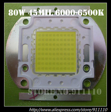 80W High Power Led 6000-6500K DC32-34V 2800mA 8200Lm 45mil High Lumen Low Light Degradation Chip(China)
