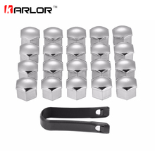 20Pcs/lot Wheel Lug Bolt Center Nut Covers Caps 321601173A for Audi A4 Q5 VW Jetta Golf Skoda SEAT with 17mm Hexagon Bolt