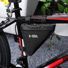 New 4 Colors Waterproof Outdoor Triangle Cycling Bicycle Front Tube Frame Bag Mountain Bike Storage Promotion Pouch Saddle Bag