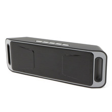 MINI Wireless SC208 Bluetooth 4.0 Speaker Super Bass Loudspeaker Double Magnetic Trumpet With HD Mic Support USB Disk TF Card
