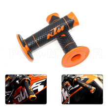 "7/8"" 22mm Motorcycle Accessories Motocross Hand Grips Handle Rubber Bar Gel Grip Orange For KTM Duke 125 200 390 690 990"